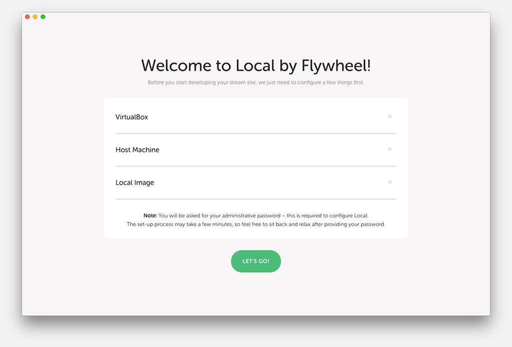 Local by Flywheel Splash Screen