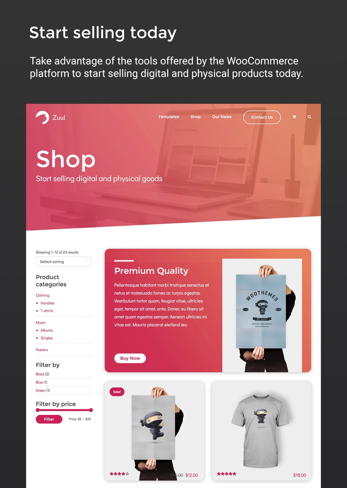 Zuul WordPress Theme Shop with WooCommerce