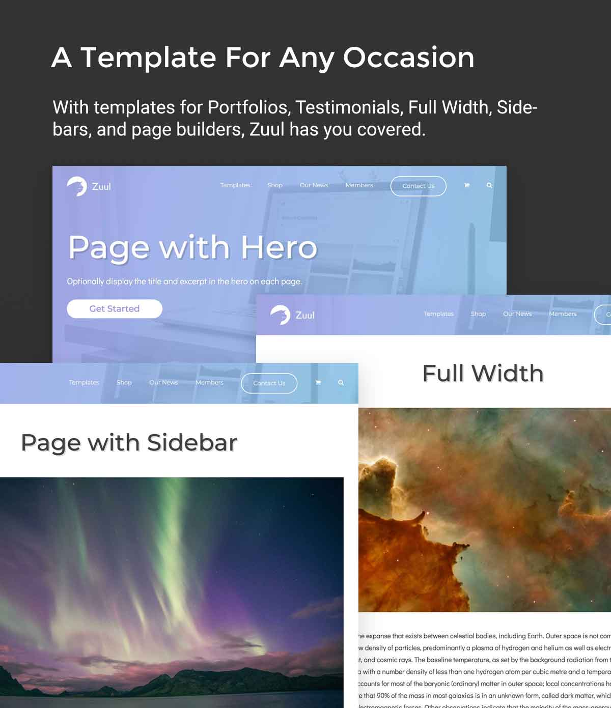 Zuul Pro Page Templates